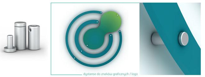 Ozdobne kołki dystansowe do wieloczęściowych logotypów, znaków firmowych montowanych z odstępem do ściany