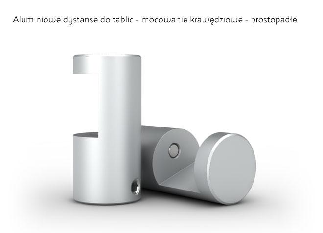 Aluminiowa dystanse, uchwyty do podrzymywania tablic od dołu i od góry