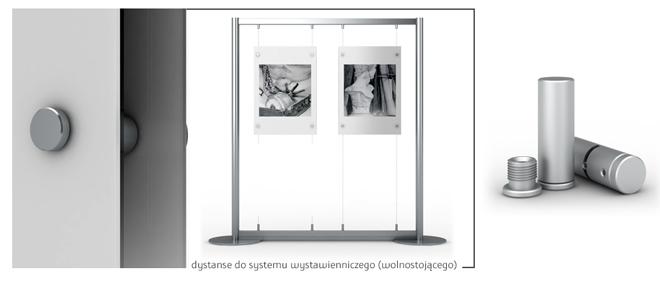 Wolnostojący system wystawienniczo ekspozycyjny do obarazów, plakatów dla muzeum, galerii, kina, teatru, stadionu