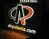 Kaseton podświetlany Air Polonia na lotnisku we Wrocławiu