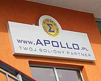Kaseton podświetlany ze srebrnego dibondu dla firmy Apollo