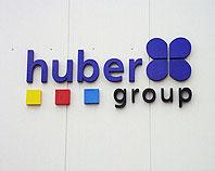 Kolorowe litery ze styroduru dla firmy Huber Gro