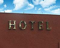 Mosiężne litery przestrzenne HOTEL