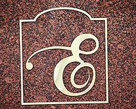 Znak firmowy z mosiądzu