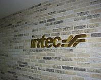 Znak firmowy z mosiądzu dla firmy Intec