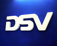 Białe litery ozdobne zamontowaliśmy w sekretariacie firmy DSV