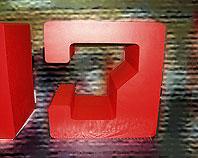 Czerwone litery ze styropianu z licem z pcv dla Wydawnictwa CHIP