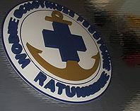 Znak Wodnego Ochotniczego Pogotowia Ratunkowego wykonany ze styroduru
