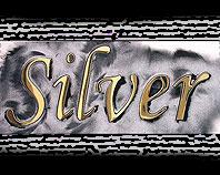 Litery mosiężne Silver