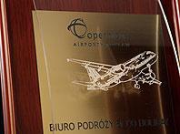 Dyplom z wypukłą szybą dla tour operatora