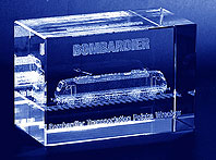 Statuetka pamiątkowa dla firmy Bombardier