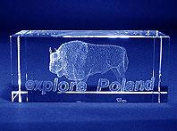 Szklana statuetka pamiątkowa na wybory Wrocławia na Expo