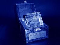 Szklana statuetka nagroda dla partnerów handlowych firmy Gerda