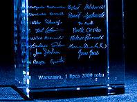 Gratulacje z okazji awansu na stanowisko partnere- Szklana Statuetka