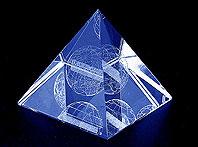 Szklana piramida grawerowane 3d - prezent dla klientów firmy Karcher