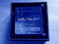 Szklana statuetka grawerowana laserem 3d - Nagroda w konkursie Mój Talent