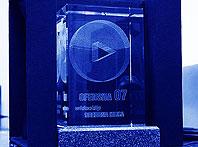 Szklana statuetka - Nagroda Srebrna Iglica