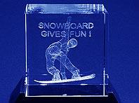 Szklana statuetka Nagroda w zawodach snowboardowych