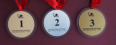 Medale na imprezę firmową, zawody sportowe- złoty - srebrny i brązowy