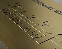 Złoty laminat na złotym laminacie