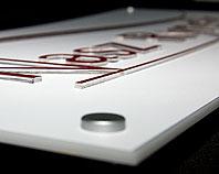 Wydruk na pleksi na białej pleksi