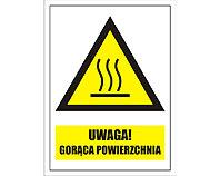 Tablica tabliczka ostrzegawcza - Uwaga gorąca powierzchnia