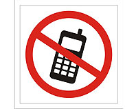 Tablica tabliczka ostrzegawcza - Zakaz korzystania z telefonu