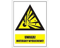 Tablica tabliczka ostrzegawcza - Uwaga Materiały Wybuchowe