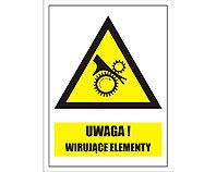 Tablica tabliczka ostrzegawcza - Uwaga wibrujące elementy