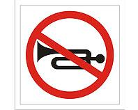 Tablica tabliczka ostrzegawcza - Zakaz uzywania sygnału dźwiękowego