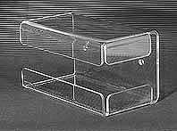 Bezpieczny pojemnik z plexi do odkładania maszynki do golenia