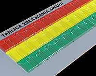 Tablica zgłaszania awarii z 37 kieszonkami z plexi