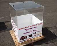 Urna do na losy do wielkiej loterii 120x80x80 cm
