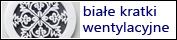 ozdobna kratka wentylacyjna biała