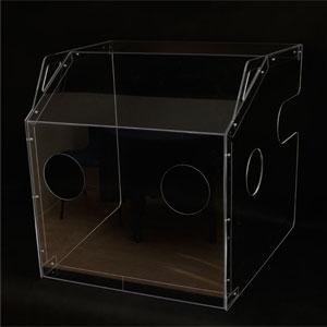 Osłona pudełko do intubacji wykonane poliwęglanu