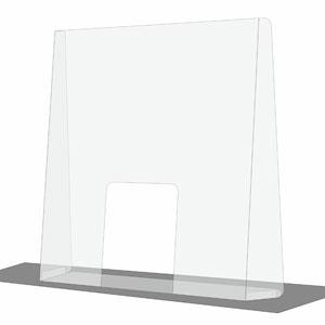 Osłona szyba ochronna przed wirusem z poliwęglanu lub pleksi do sklepu recepcji biura urzędu, na lady lub biurka