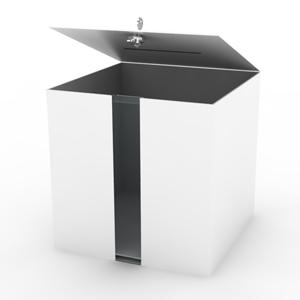 Urna pudełko skrzynka z aluminium na dokumenty