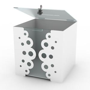skrzynka pudełko skrzynka na ozdobna dokumenty z aluminium