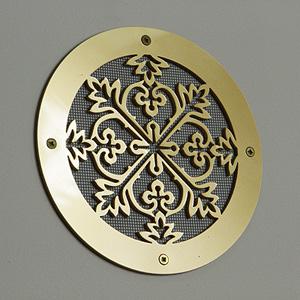 złota ozdobna kratka wentylacyjna