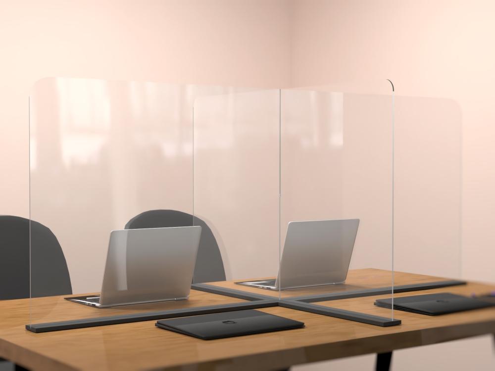 Szyba osłona przegroda ochronna na biurko z plexi lub poliwęglanu covid
