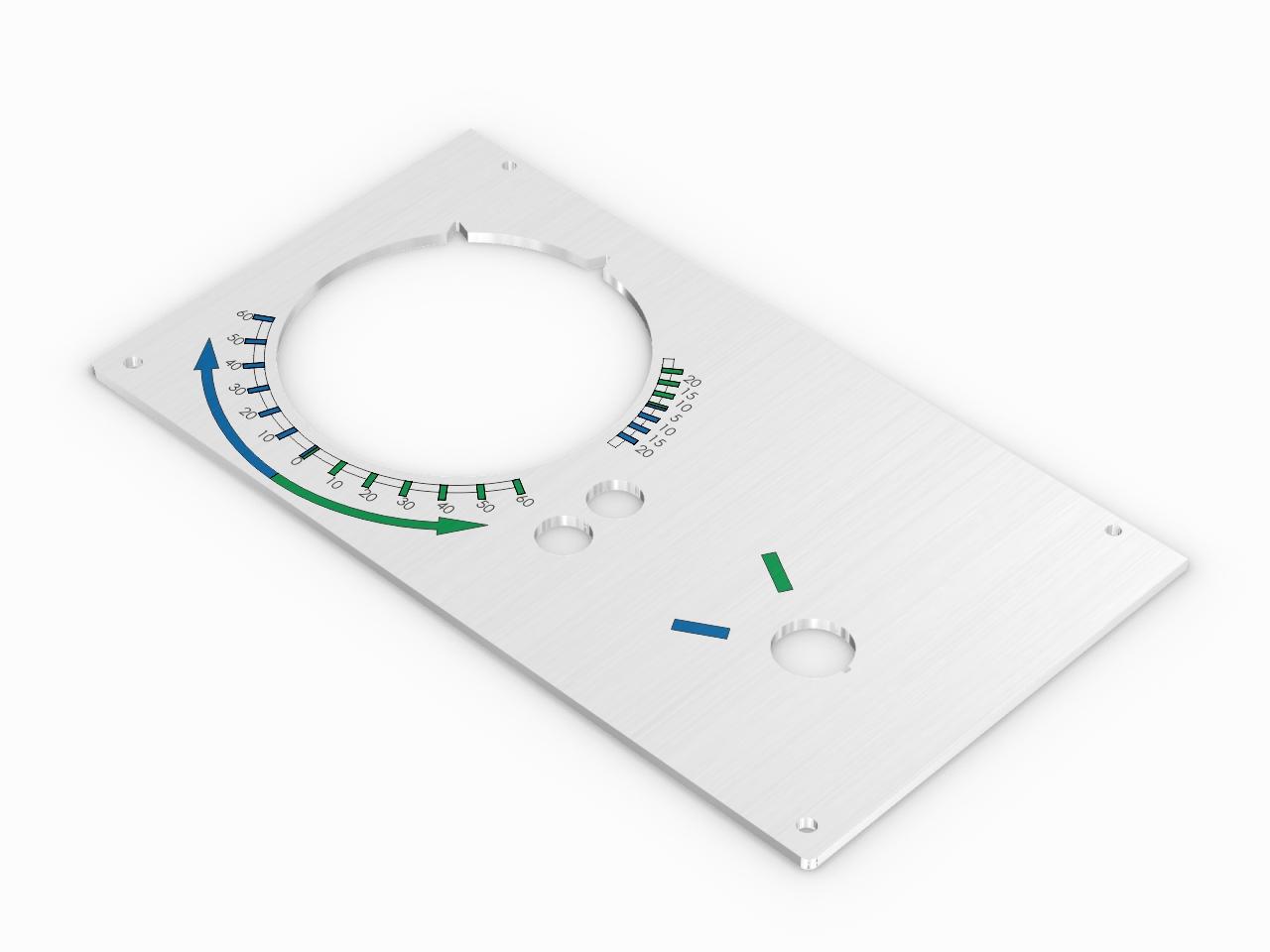 Aluminiowy panel do sterowania natężeniem i zasilaniem