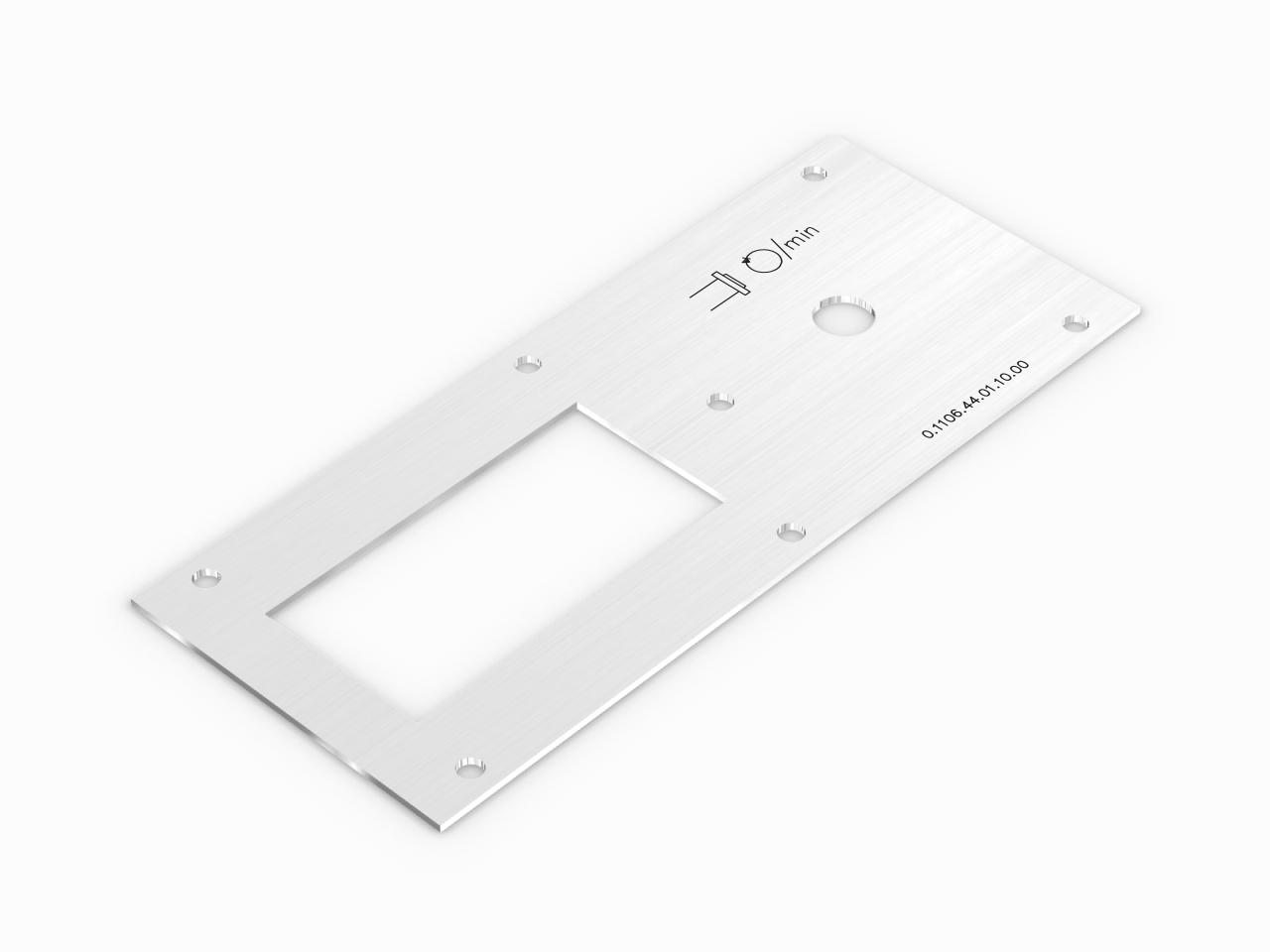 aluminiowy panel pulpit do maszyny cnc
