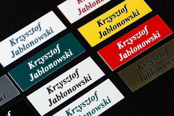 Imienniki - Grawerowane identyfikatory indywidualnie personalizowane z imieniem i nazwiskiem