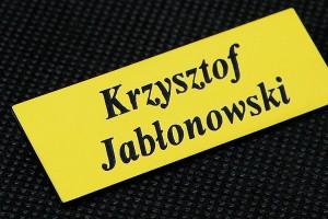 Identyfikator imienny zółto-czarny