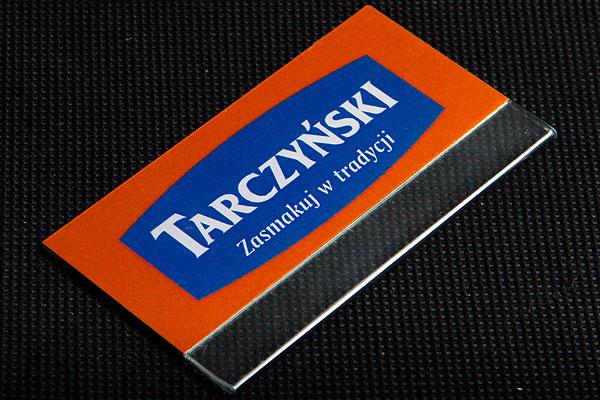 Identyfikator z kieszonką metalowy dla firmy Tarczyński