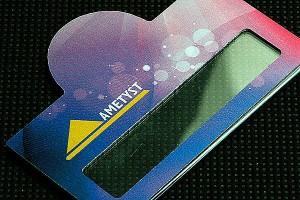 Identyfikator metalowy dla firmy Ametyst