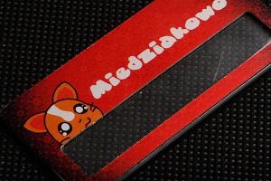 Identyfikator metalowy dla firmy Miedziakowo