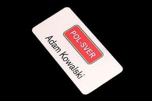 identyfikator osobisty dla pracownika firmy Pol-Sver