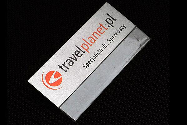 Identyfikator z kieszonką metalowy dla specjalisty ds, sprzedaży