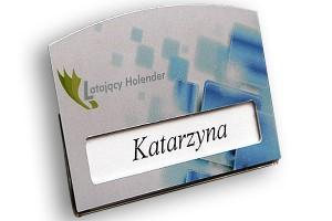 Identyfikator z okienkiem dla pracownika firmy Latający Holender